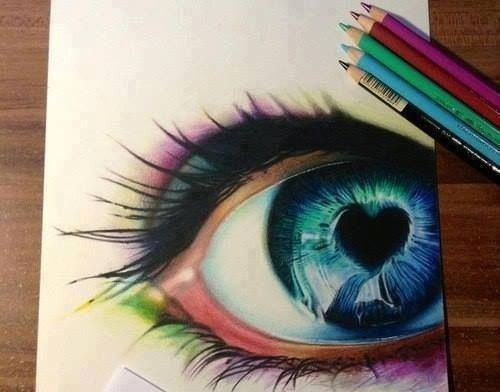 art, blue eyes, colorful and drawing