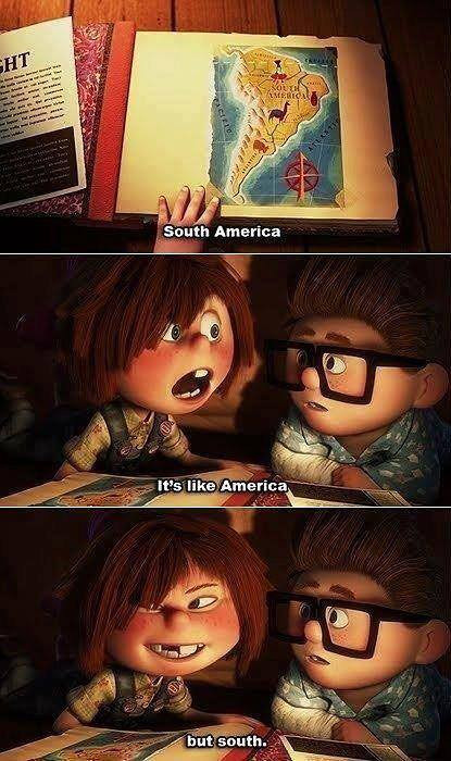 america, animation, argentina, brazil, cartoon, chile, disney, funny, love, south america, up