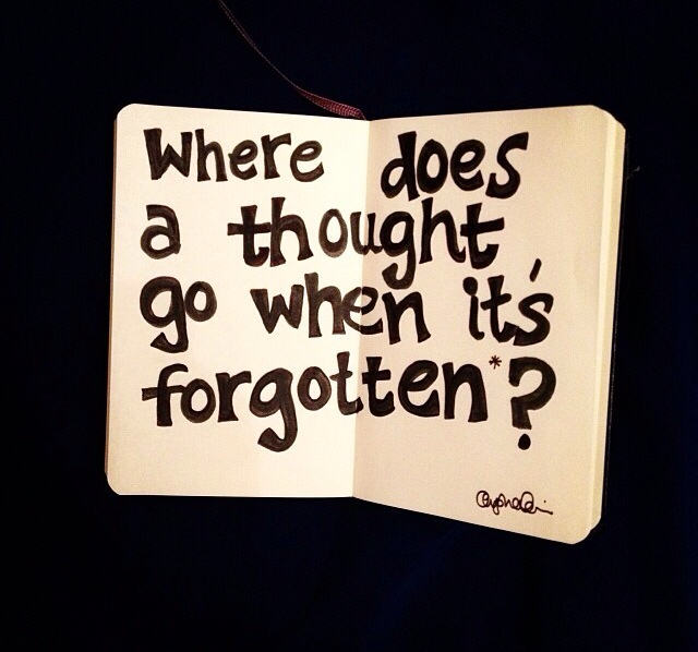 forget, forgotten, memory and thought