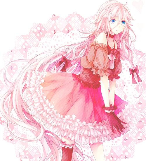 anime, flower, girl, kawaii, pink, pretty