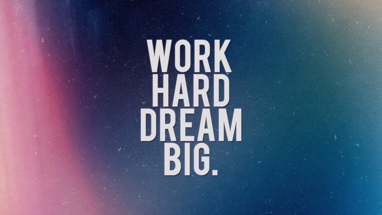 dream, hard, quote and work
