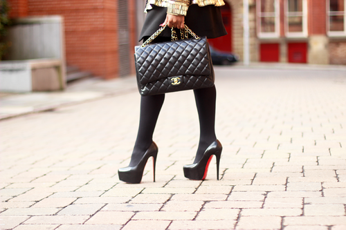 bag, chanel, christian louboutin, classy, fashion, luxury, shoes, street style