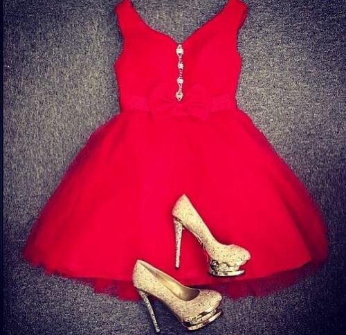 clothes, cute outfits, dress, dresses, fashion, girls, heels, outfit, red