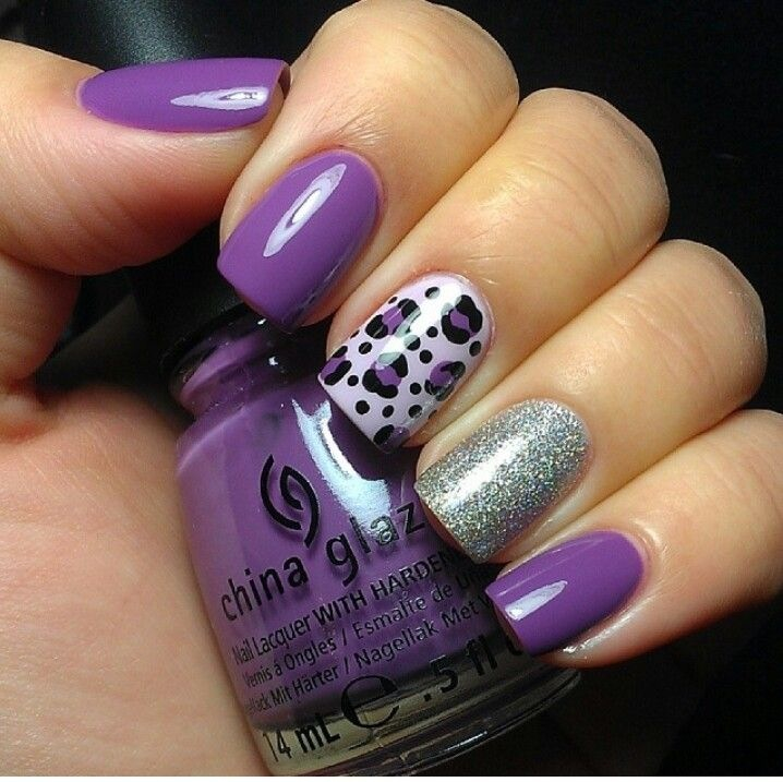 cute, nail art, nails and purple
