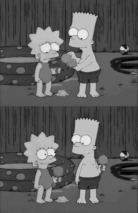 bart, bart simpson, black and white and brothers