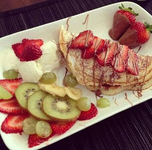 breakfast, cream, delicious food and eye candy