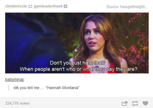 fake people, funny, hannah montana and miley cyrus