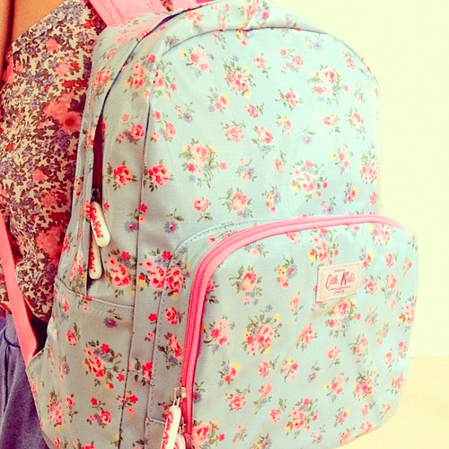 backpack, cath kidston, fashion and rosy