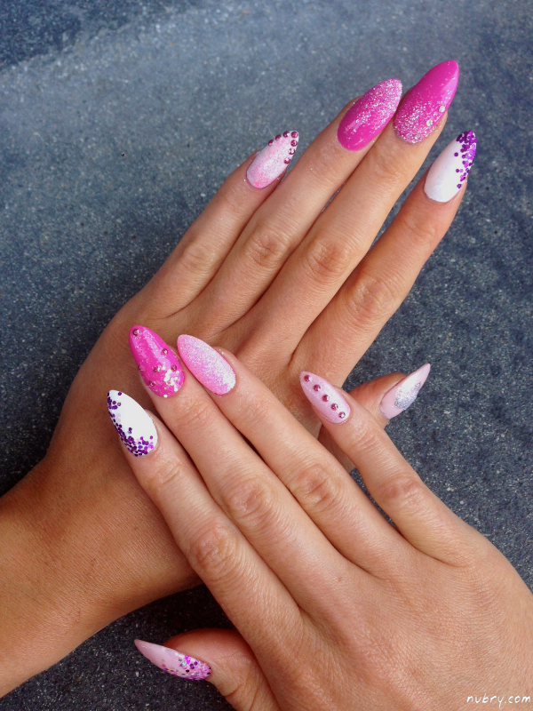 barbie, diamonds, nail art and pink