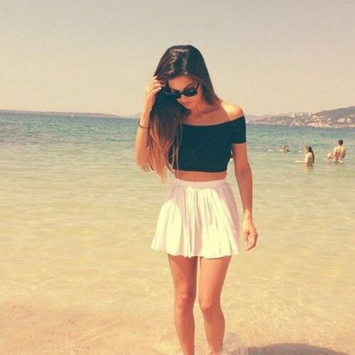 Beach Fashion Girl Ocean Outfit Pretty Skirt Tumblr Image 1856451 By Marky On