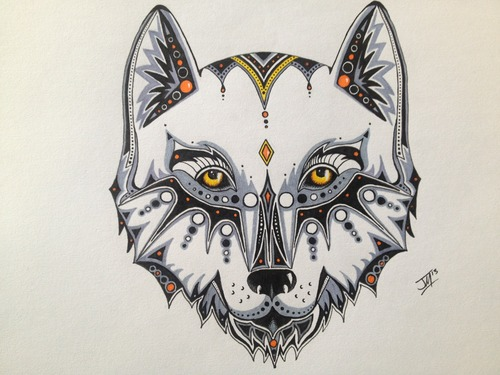 wolf drawing tumblr