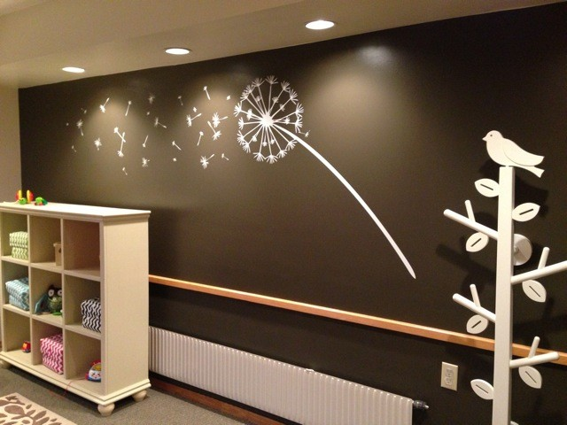 White Decal In The Nursery Decor Ideas