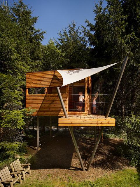 Contemporary Wooden Tree Houses To Live In Idea Image