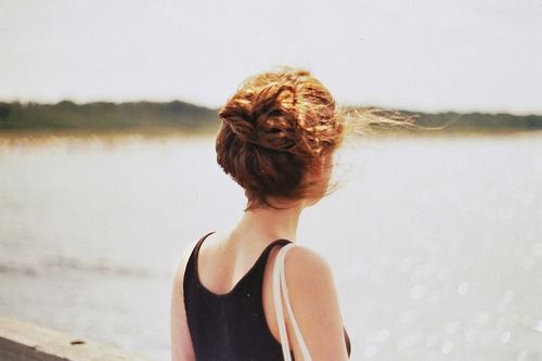 girl, landscape, nature and ocean