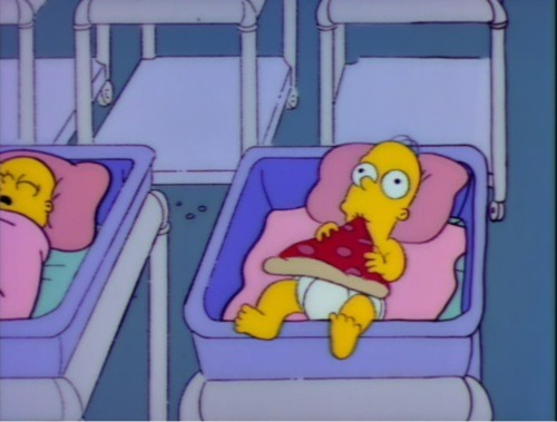 funny, homer simpson, pizza and the simpsons
