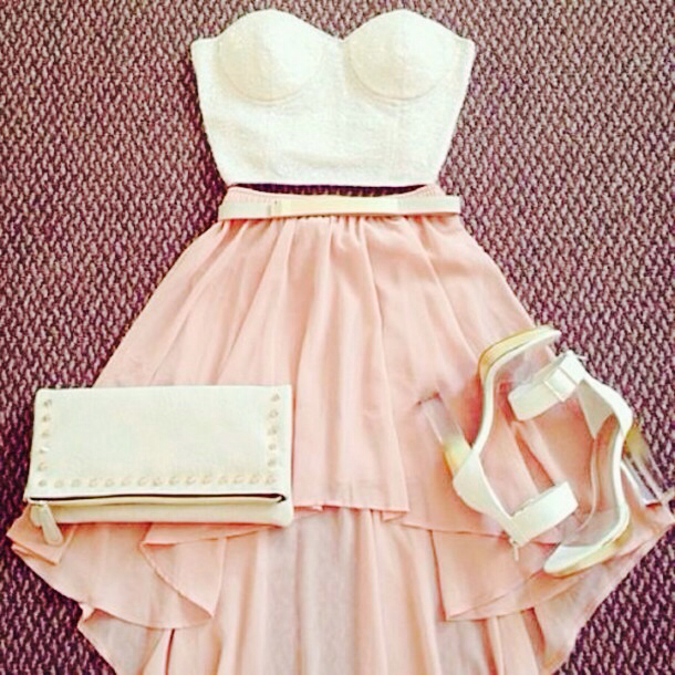 style, summer, fashion, dress, outfit, cute, white, pink