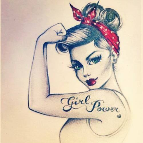 awesome, cool, drawing, girl power, girly, love