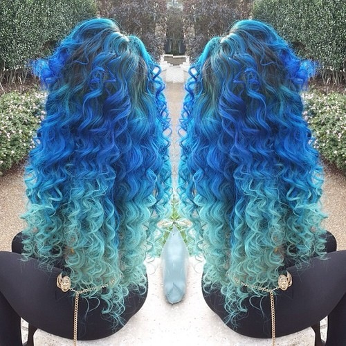ombre hair | blue | via Tumblr - image #1952231 by Maria_D ...