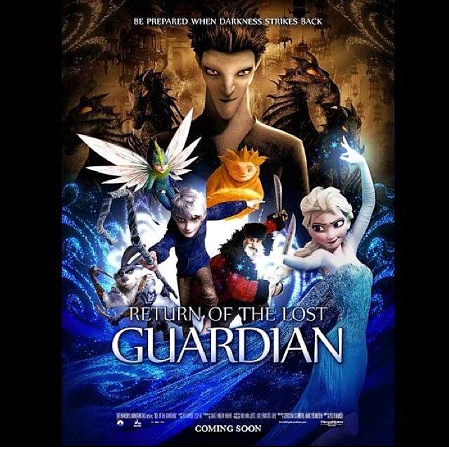 elsa, frozen, jack frost, north, pitch, sandy, tooth, rise of the ...