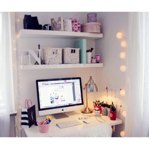 bedroom tumblr mac white shelf desk image 2010492 by saaabrina