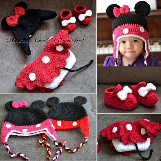 Free Crochet Pattern Minnie Mouse Shoes : Free Minnie Little Mouse Hat Shoes And Skirt - image ...