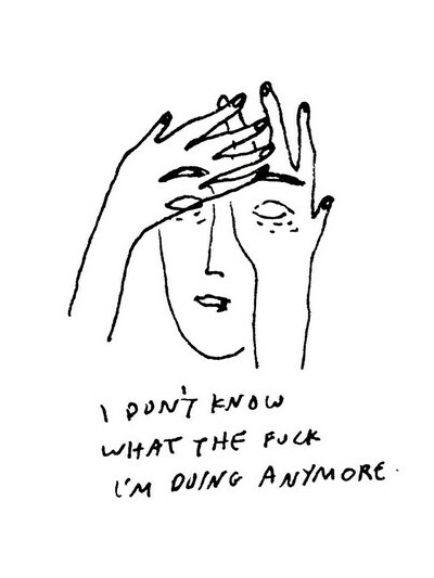 Confused Drawings Hipster Life Sad Tumblr Image 2063451 By