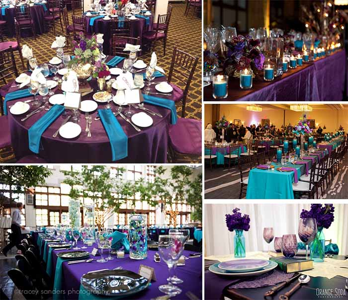 Ideas Of Purple And Teal Wedding Party Image 2075721 By
