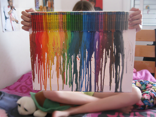 beautiful, colourful, crayons and cute