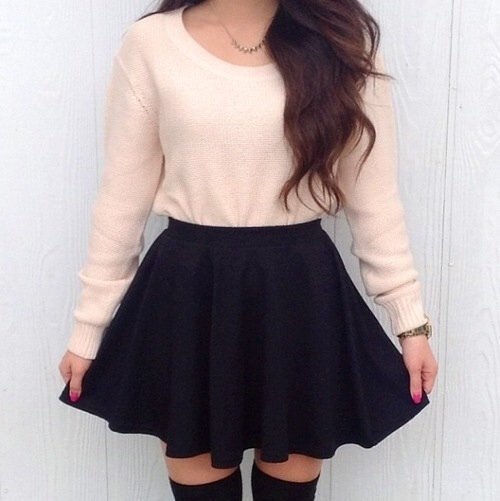 clothes, cute, fashion, knee high socks, love, outfit, skirt, style, high knee socks