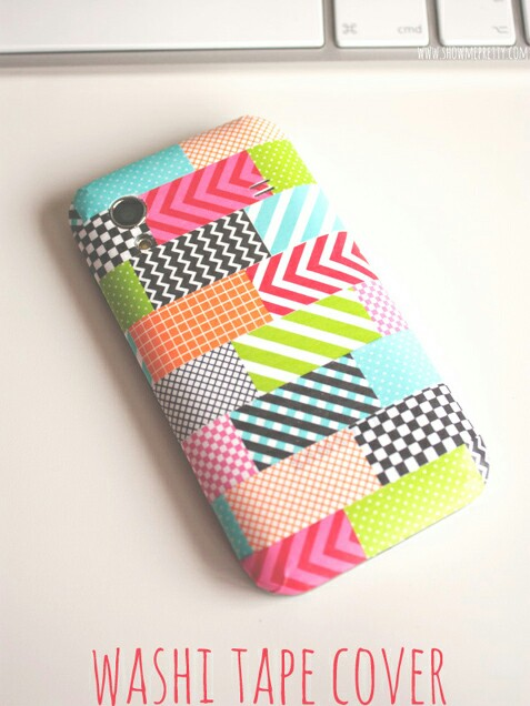 Tape phone case image 2147502 by saaabrina on for Washi tape phone case
