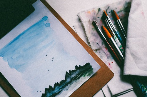art, brushes, creative and drawing