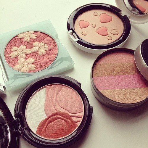 beauty, blushes, cosmetics and design