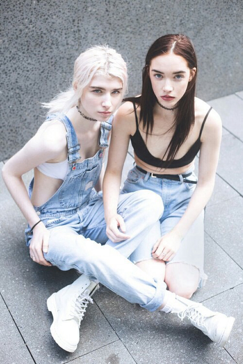 Black Grunge Grunge Style Outfit Overalls Pale Pretty Girls