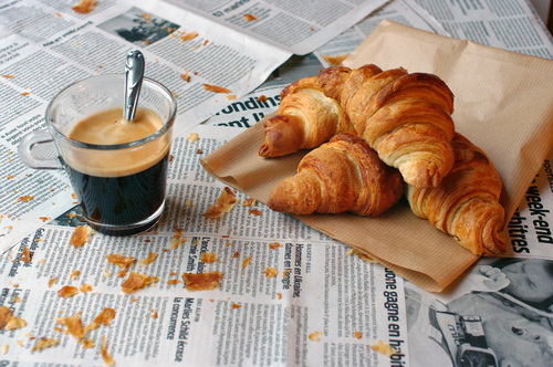 breakfast, choco, cofee, coffee, croissant, croissants, hot chocolate