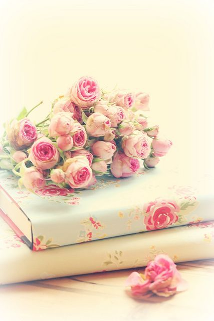 Book Cover Flower : The pink package via tumblr image by ksenia l