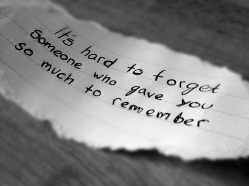 forget, hard, love and memories