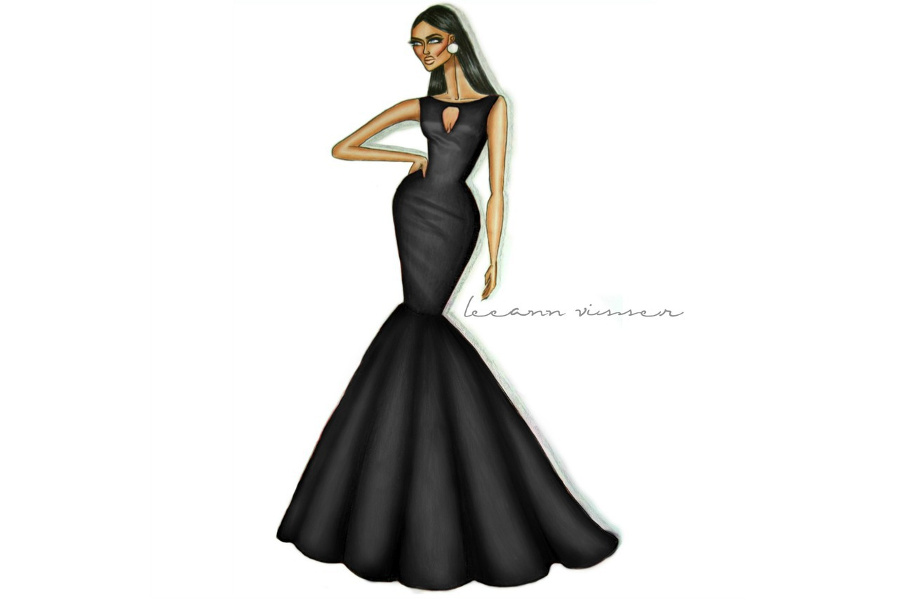 Fashion Fashion Design Drawing Dress