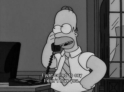 funny, homer, love and phone