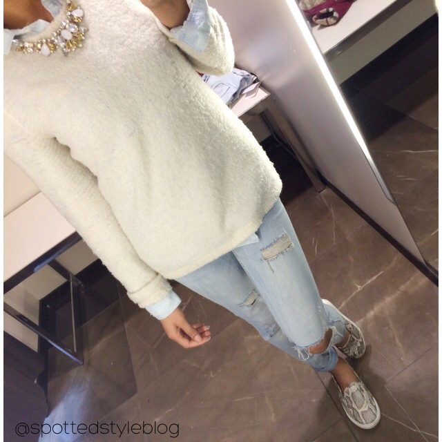 beautiful, clothes, clothing, distressed, fashion, fluffy, hair, jeans, love, model, nails, ootd, outfit, pretty, style, sweater, tops, vintage