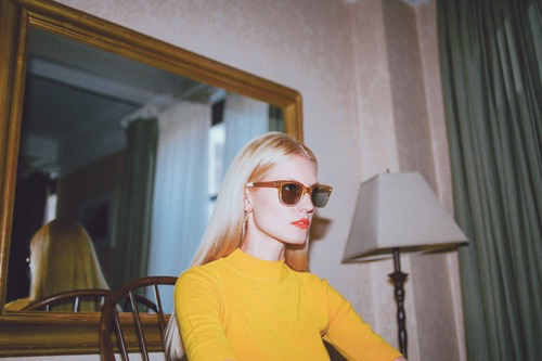 60s, adorable, beautiful, chic, clothes, clothing, cool, curte, fashion, fashionable, girl, girly, gorgeous, lovely, orange lips, pretty, style, sunglasses, sweater, vintage, wonderful, yellow, sixty style