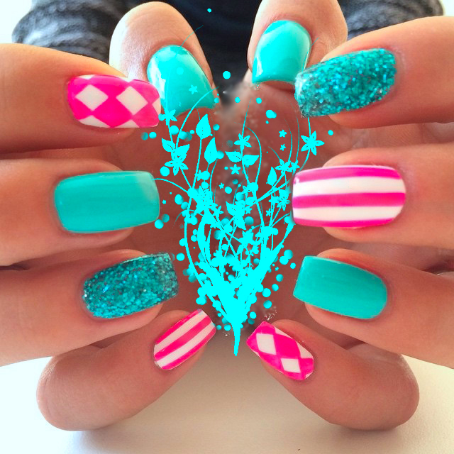 beauty, cute, cute nails and girly