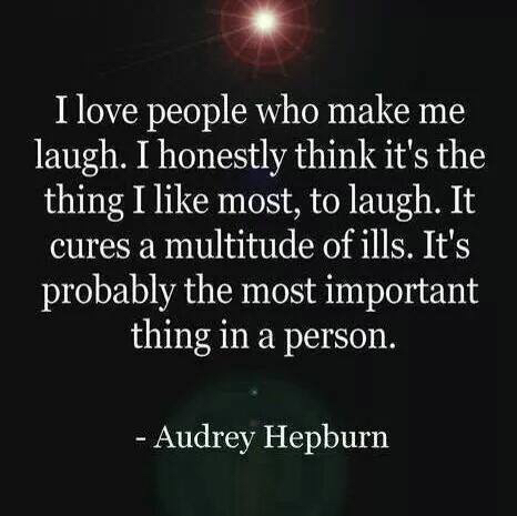 audrey hepburn, happiness, happiness quote, laughter, quote, quote of the day, audrey hepburn quote, andrea trisdale, laughter quote