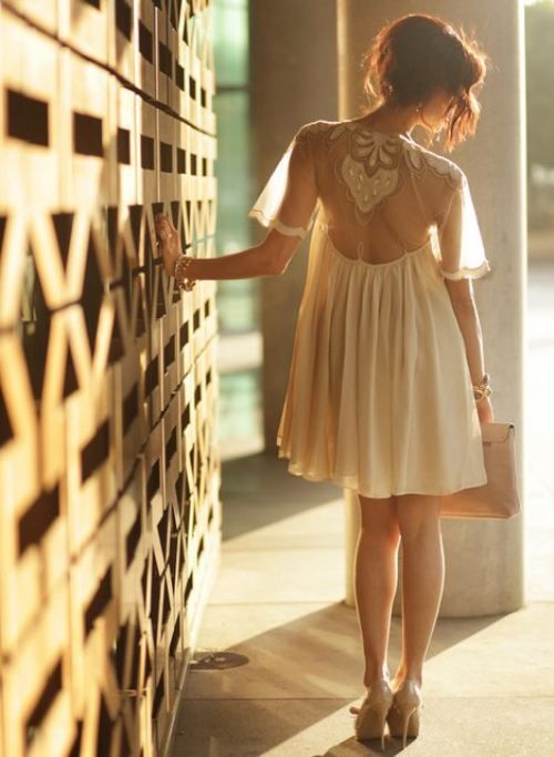 accessories, cream, cute, dress, drift, fashion, golden, lace, light, photography, pose, short, summer, trends, white, young