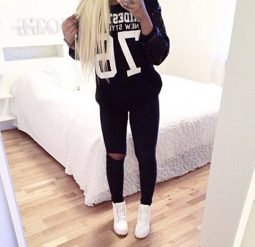 bedroom black black and white blonde cute fashion girl girls