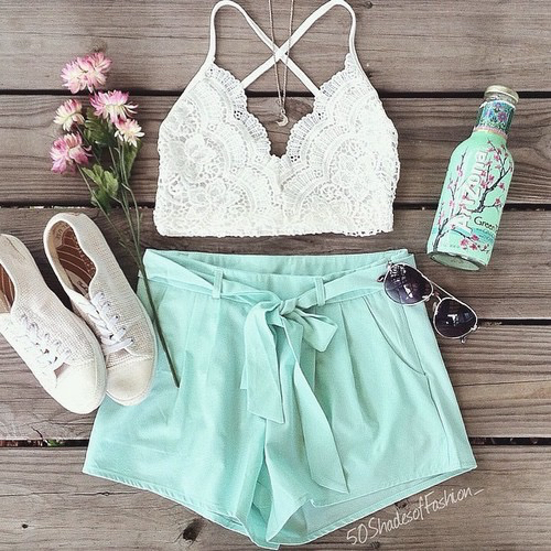 Clothes cute fashion flowers look outfit outfits outlook style summer tumblr white Fashion style girl tumblr 2015