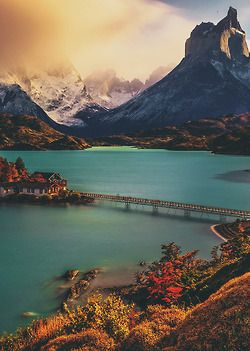 chile, lake, landscape, magical, mountain, place, snow, travel, view, wanderlust
