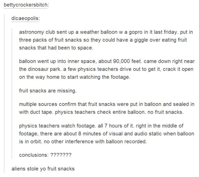 aliens, science, snack, tumblr posts, the best of tumblr