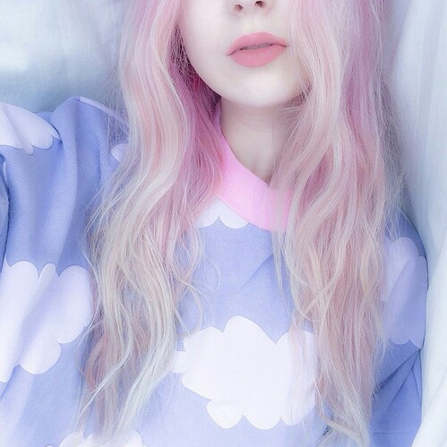 fashion, hair, outfit, pale, pastel, pink, purple, ️bambi