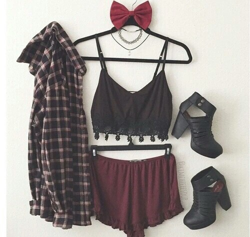 accessories, black, choker and clothes