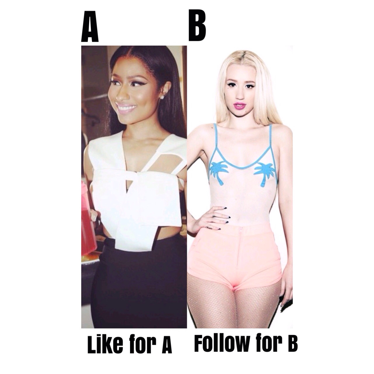 better, black hair, blonde hair, butts, drake, famous, female rapper, follow, iggy azalea, instagram, like, music, nicki minaj, rapper, sand, singers, summer, twitter, best rapper, ​​beach, nicki and iggy